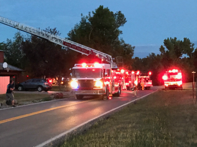 © Multiple Fire Departments responded to house fire on Ponderosa Ct. Saturday