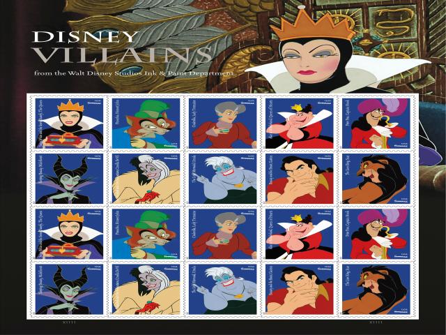 U.S. Postal Service offers Disney Villain Forever stamps