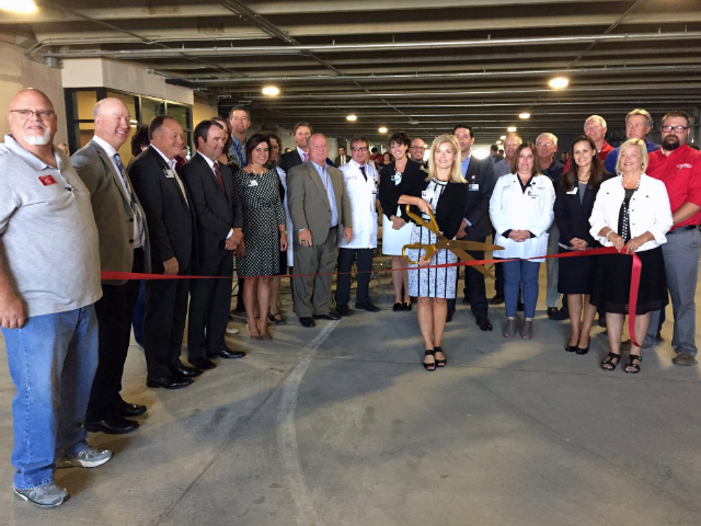 © Rapid City Regional Hospital cuts ceremonial ribbon celebrating phase one completion of master expansion, Aug. 22.