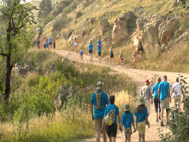 Peopled walked up M-Hill to raise funds for Parkinson's research, Sept. 9, 2017