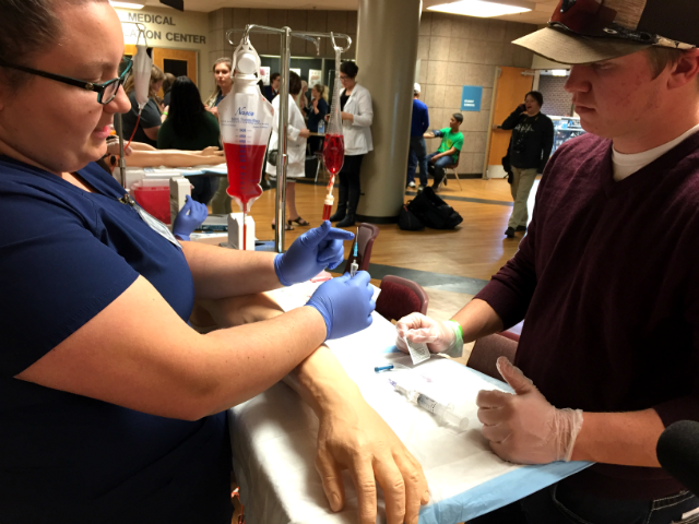 WDT Scrubs Camp provides hand-on healthcare education to Black Hills  high school students during Scrubs Camp. Nov. 14, 2017