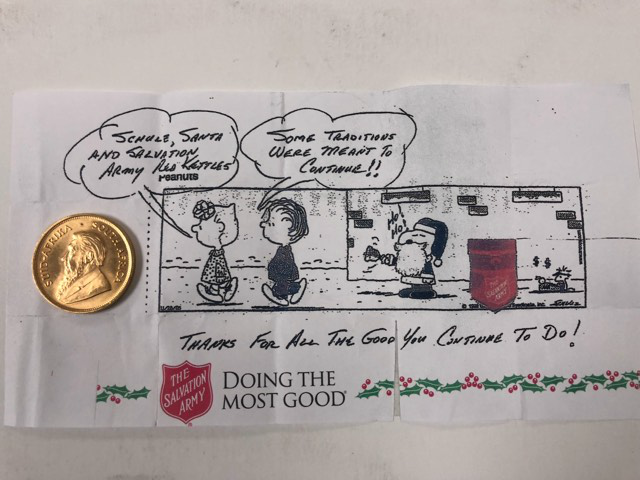 Want to make a year end donation? Consider the Salvation Army!
