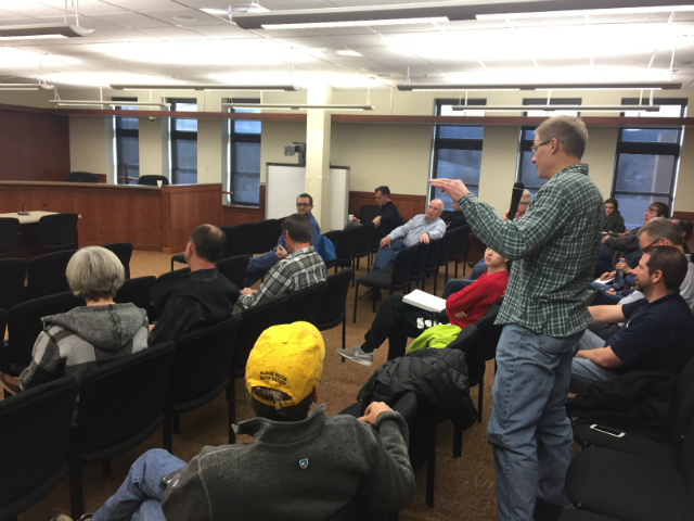 Meade County residents expressed concerns to District 29 Representatives, Feb, 3, 2018