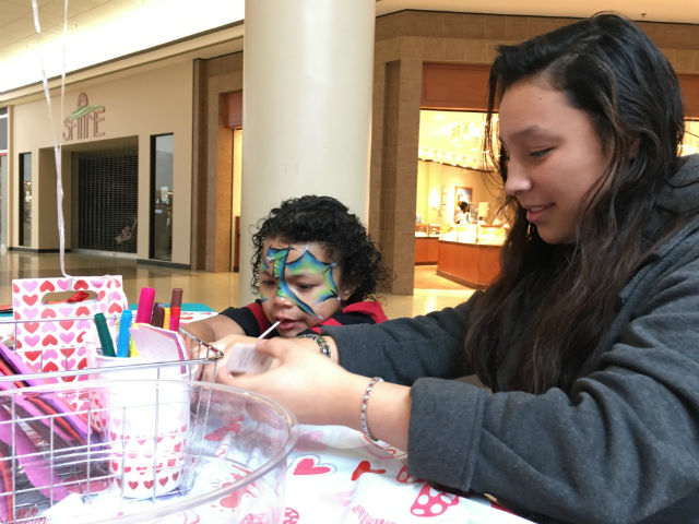 © People created Valentine's Day cards for Ellsworth Airmen at Rushmore Mall. Saturday Feb 3, 2018