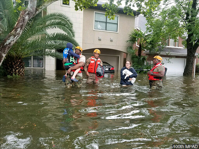 People being rescued after effects of Hurricane Harvey